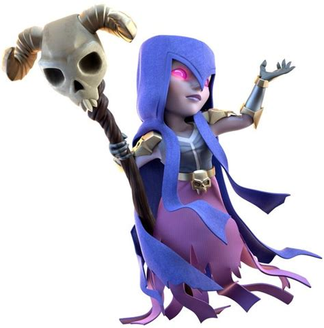 Coc Kaosclash Of Clan Witch White clash of clans witch 1008x1024 jpg 1008 215 1024 3d