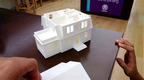 How To Make A 3d Model Out Of Paper - makerbot 3d printed model house