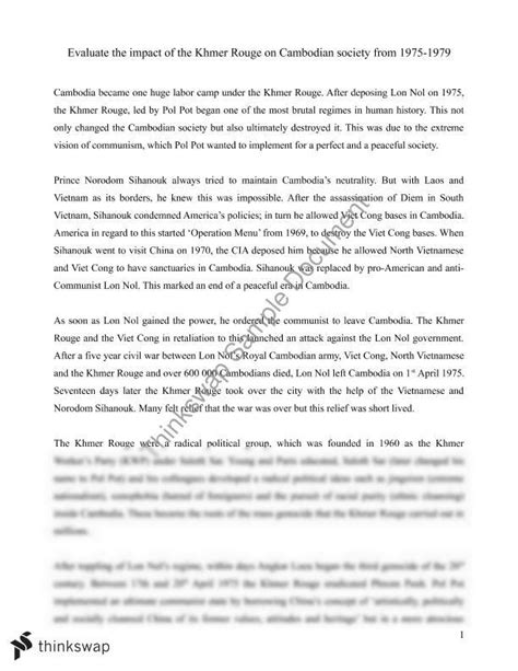 Genocide Essay by Image Gallery Khmer Essay Topics