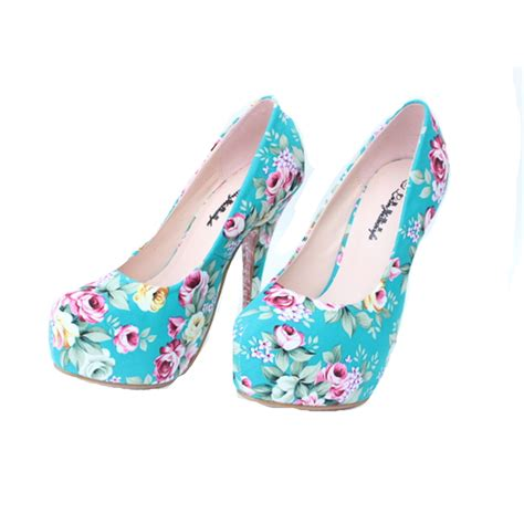 flower print high heels buy wholesale floral print high heels from china