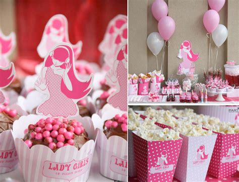 pink and brown bridal shower decorations kara s ideas pink tween 10th birthday