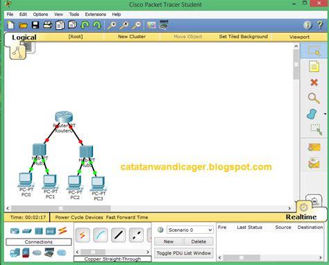 tutorial belajar cisco packet tracer belajar packet tracer menghubungkan jaringan satu dengan