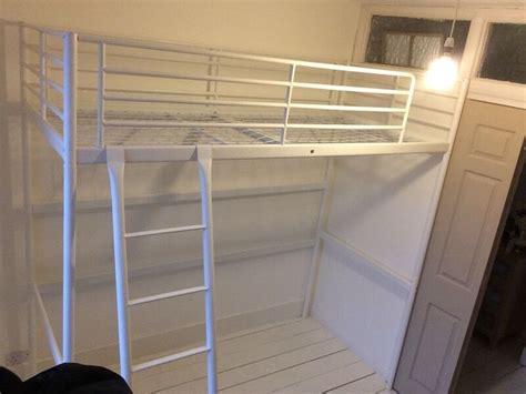 Svarta Loft Bed by Ikea Svarta White Metal Single Loft Bed In Twickenham