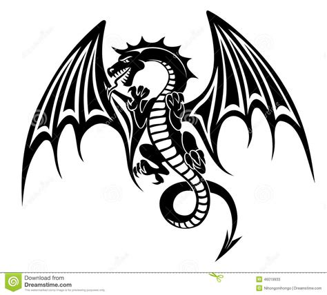 black dragon stock vector image 46019933