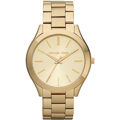 Mxxhael Kors Gold michael kors s gold runway bracelet