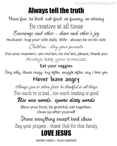 printable house rules 7 best images of printable house rules for roommates