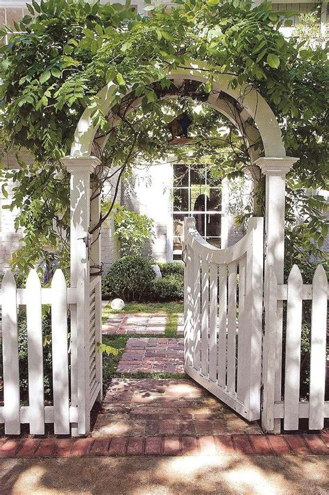 Garden Arbor With Gate White Cottage Arch And Gate Me At The Gate