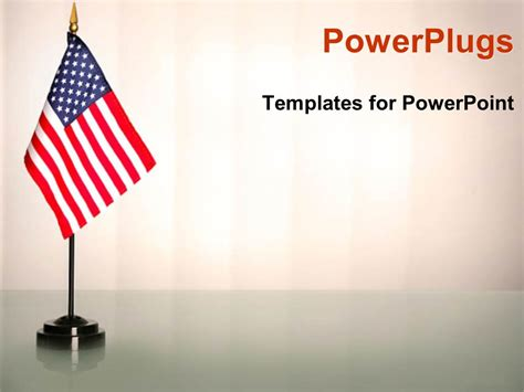 american flag powerpoint template powerpoint template an american flag with white background 15311