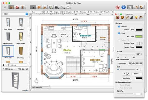 2d Floor Plan Software by Live Interior 3d Home And Interior Design Software For Mac