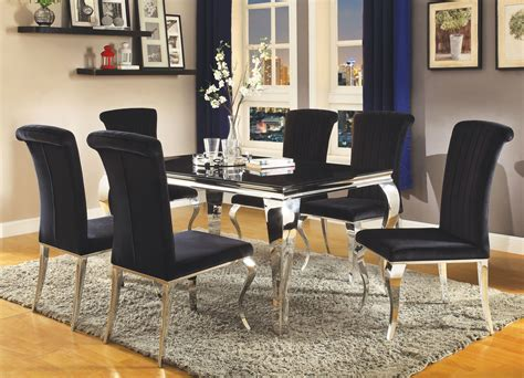 coaster dining room sets carone stainless steel dining room set from coaster