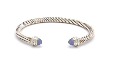 david yurman blue chalcedony sterling silver cable