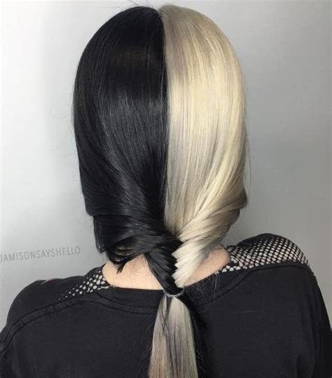 black and platinum hairstyles 40 two tone hair styles