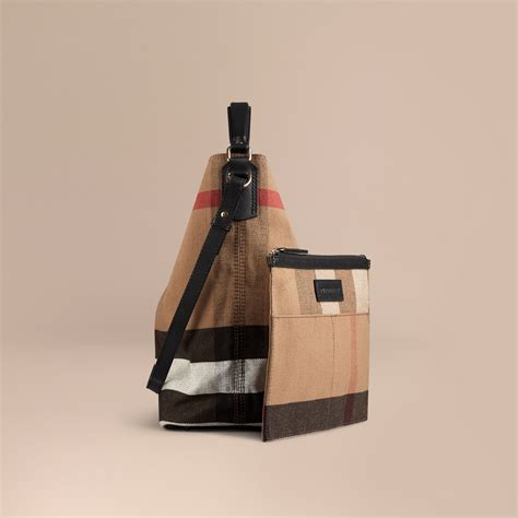 Tas Burberry Ribbon Set 2 In 1 Gold Series Jj 4725 1 the medium ashby in canvas check and leather in black burberry united states