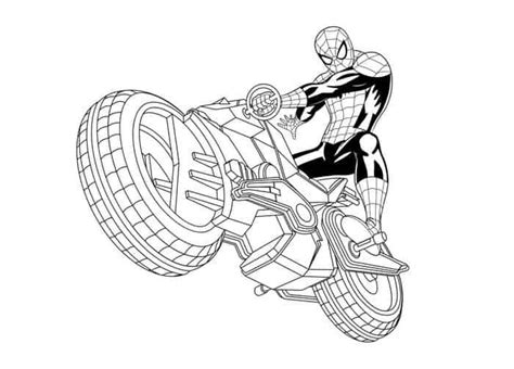 spiderman motorcycle coloring pages spiderman coloring