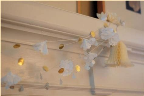 diy decorations garland diy doily wedding garland once wed