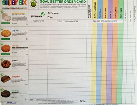 scout order form template scout cookie order form 2015 new york