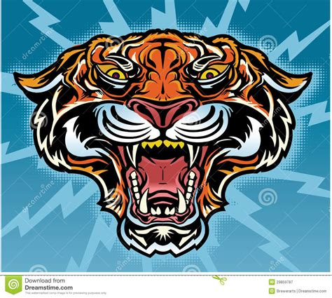 retro tiger tattoo royalty free stock photography image