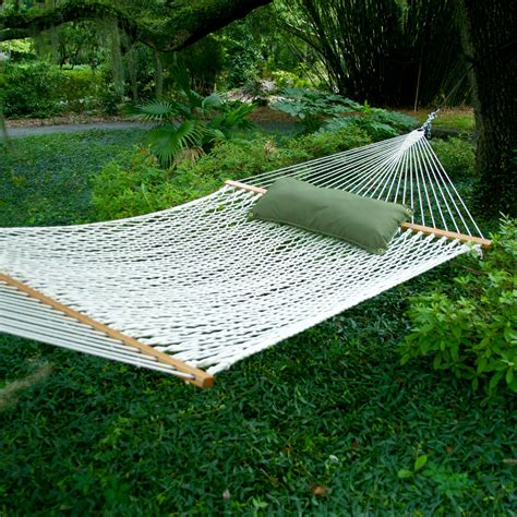 A Hammock Hammocks Deluxe Original Polyester Rope Hammock On Sale