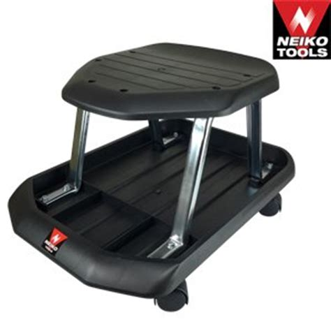 professional shop seat rolling stool with tray