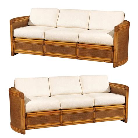 exceptional restored vintage rattan sofa for sale at 1stdibs