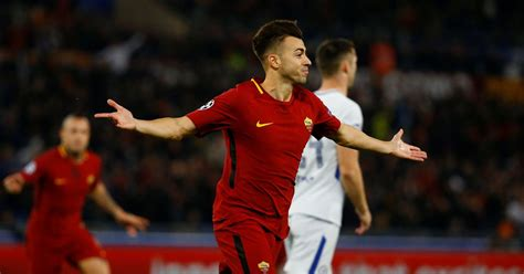 chelsea roma roma 3 0 chelsea el shaarawy at the double as conte s men