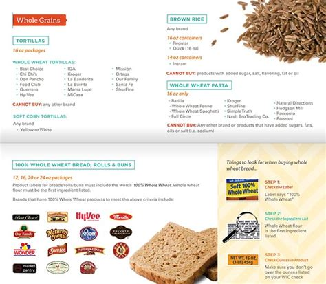 whole grains wic florida kansas wic food list