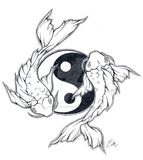 deviantart tattoo designs koi yin yang symbol yin yang koi fish by ryu