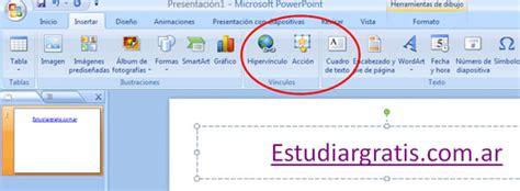 tutorial de powerpoint 2010 hipervinculos acciones y link en powerpoint