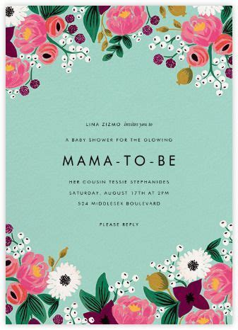 Baby shower invitations   online and paper   Paperless