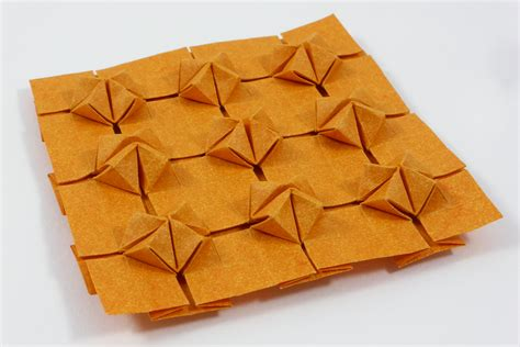 Tessellations Origami - cluster tessellation by michaå kosmulski â crease pattern