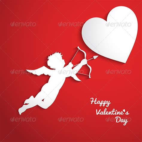 cupid valentines valentines day background with cupid graphicriver