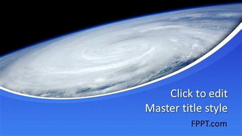 hurricane powerpoint template  powerpoint templates