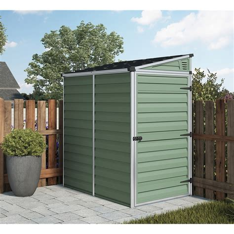 4 X 6 Plastic Shed by Installed 6 X 4 Plastic Pent Shed 1 8m X 1 2m Includes