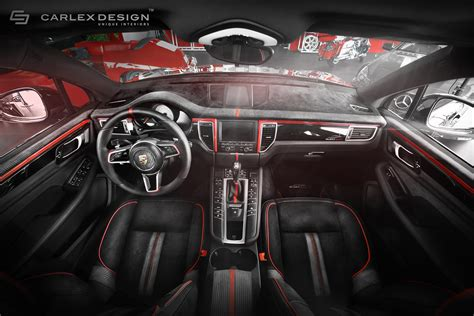 black porsche red interior porsche macan gets a berserk red and black interior