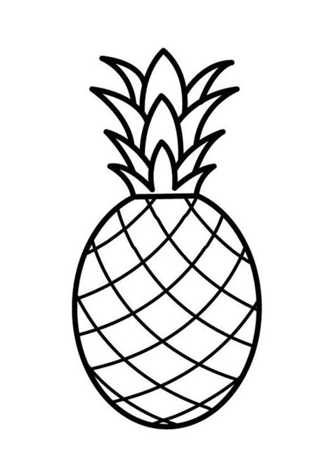 pineapple color pineapple a pale pernambuco pineapple coloring page