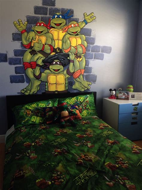 ninja turtle wallpaper for bedroom teenage mutant ninja turtles wall murals 1000 ideas
