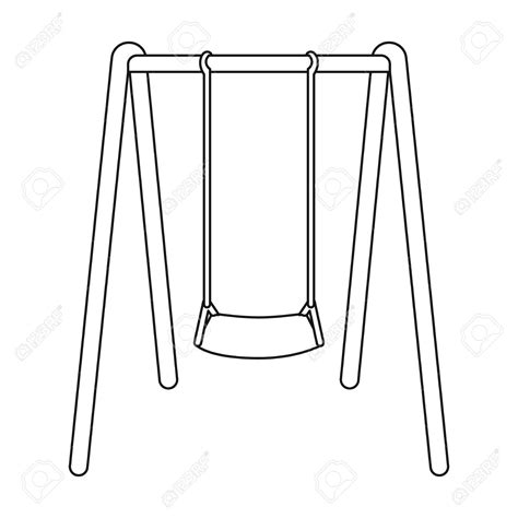 Swing Outline Exle swing clipart outline pencil and in color swing clipart outline