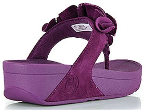 Sandal Wanita Fitflop Banda Flower fitflop frou purple suede flower sandal in purple lyst