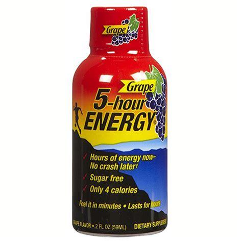 1 hour energy drink 5 hour energy grape energy drink 1 93 oz plastic bottles