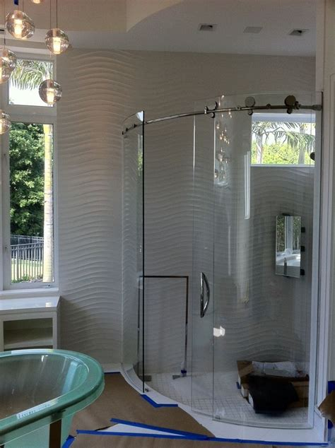 curved shower doors