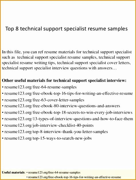 resume sle for technical support specialist 8 sharepoint administrator resume exle free sles exles format resume curruculum