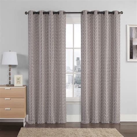 curtain panel pair empress jacquard embroidered window treatment grommet