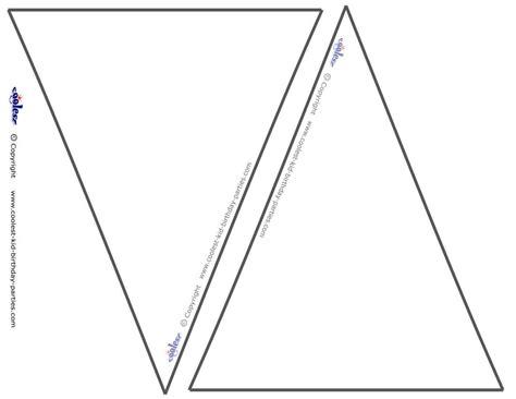 triangle banner template triangle banner template best template idea