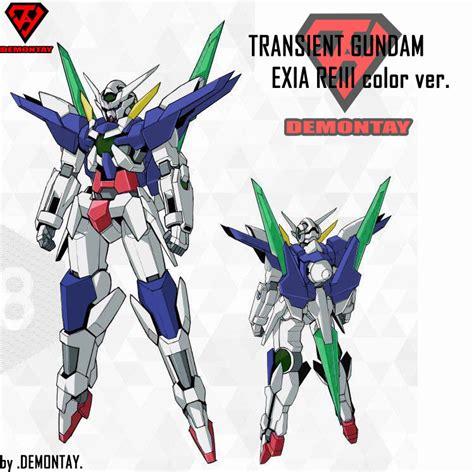 gundam transient wallpaper transient gundam exia re iii color ver by demontay0011