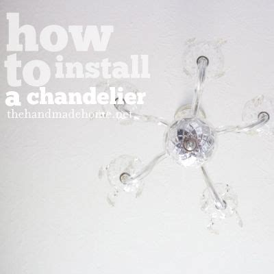 How To Remove Chandelier How To Install And Chandelier And Remove Florescent Light Fixtures Home Projects And Crafts