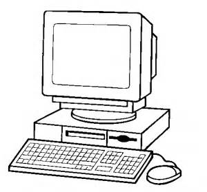 computer clipart images black and white clipartsgram com