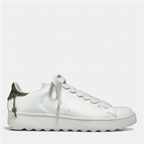 coach white sneakers coach leather c101 low top sneaker in white for white