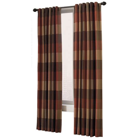 curtains at lowes shop allen roth 95 in l rust emilia curtain panel at