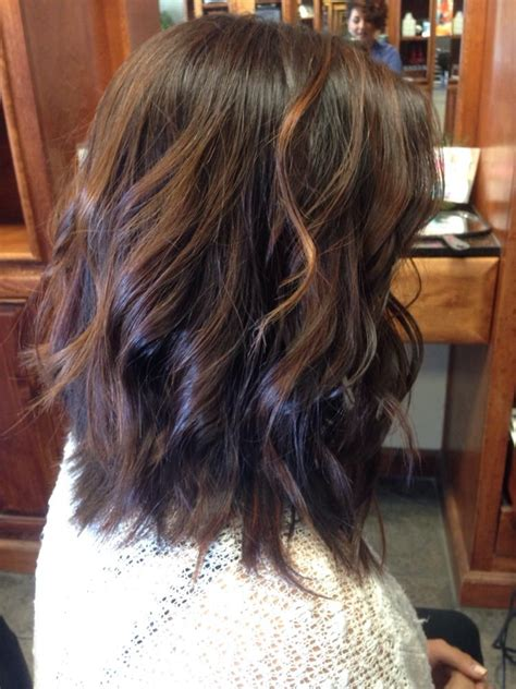 balayage with a textured cut into a long bob by ariel yelp