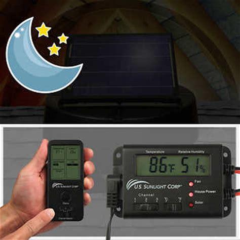 solar attic fan costco solar controller for solar attic fans